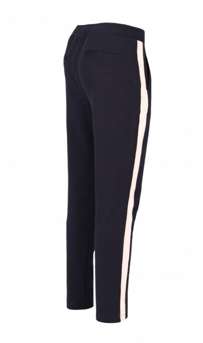 Pantaloni Damă LAZO LINE, Bleumarin cu Roz pal